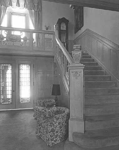 Foyer and stairway, governor's residence