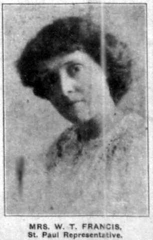 Nellie Francis, 1912. From the St. Paul Appeal, July 27, 1912, p.3.
