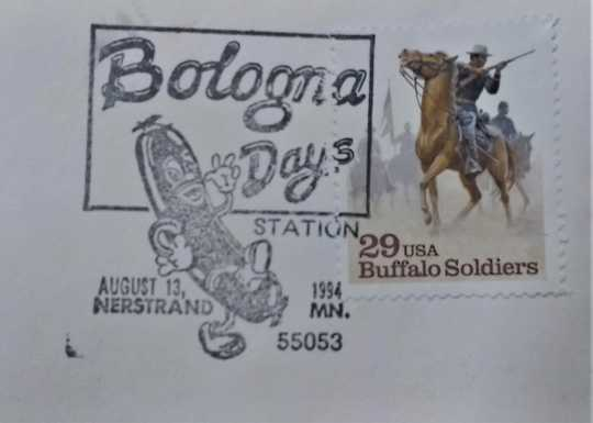 Nerstrand Bologna Days Cancellation Stamp, 1994.