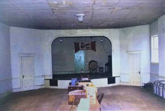 The assembly room in Nerstrand City Hall, 1995. Used with the permission of Rice County Historical Society.