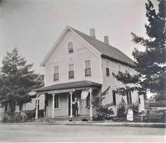 Nerstrand Hotel, Nerstrand, Minnesota, ca. 1900.