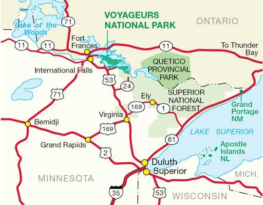 Parks in northern Minnesota
