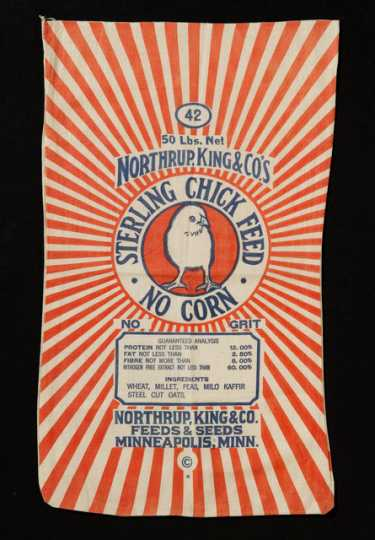 Northrup, King and Company Sterling Chick Feed bag