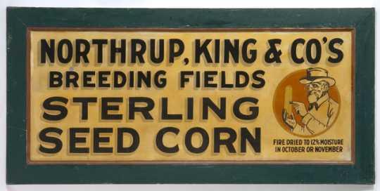 Northrup King trade sign