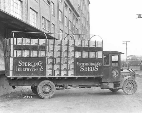 Northrup, King and Company load of popcorn
