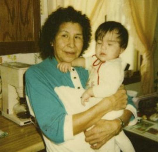 Ona Kingbird with a baby