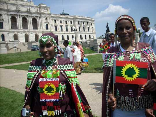 Women at the March for Oromia in St. Paul, 2007