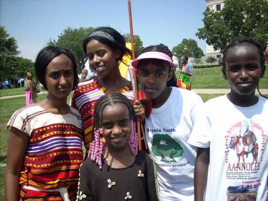 Oromo youth at the March for Oromia, 2007