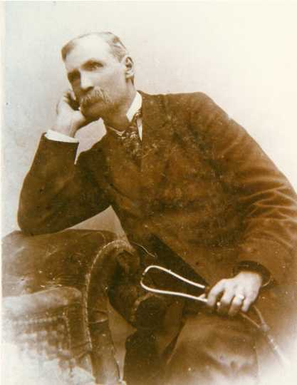Black and white photograph of Dr. Orville P Chubb, c.1870.