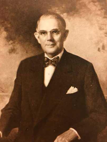 Black and white photograph of Merritt J. Osborn, founder of Economics Laboratory, later Ecolab, ca. 1950s.