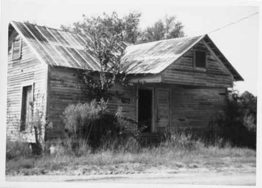 The abandoned Whitesocks School near Rochelle, Georgia, ca. 1970s. Black students were segregated from white ones in the 1920s, when Oscar Howard attended. From the Oscar C. Howard papers (P1842), Manuscripts Collection, Minnesota Historical Society.
