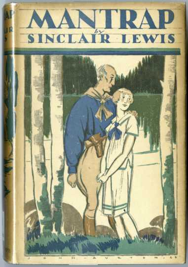 Color scan of the cover of Sinclair Lewis' novel Mantrap, published in 1926.