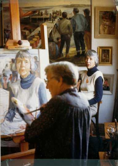 "Gene Ritchie Monahan painting ""Mary Dobbs Schlick"""