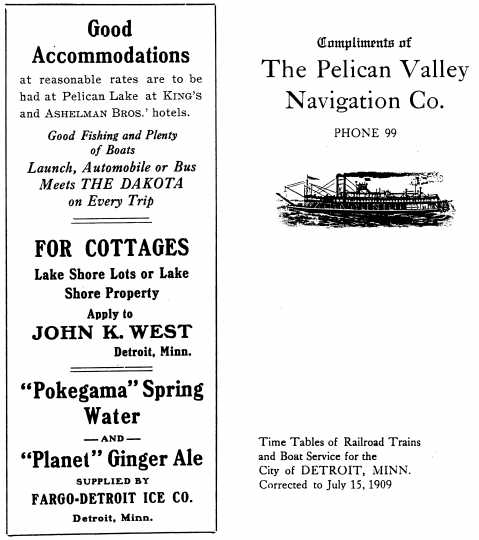 Print brochure advertising the Pelican Valley Navigation Company