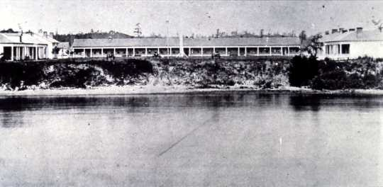 Black and white photograph of Fort Ripley in the early 1870s.