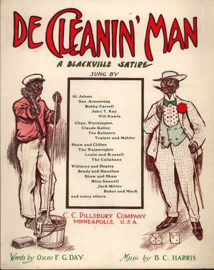 Sheet music printed by the publishing company of Carlton Pillsbury, a member of the politically and economically influential Pillsbury family. This music was performed by Al Jolsen, George Armstrong, Bobby Carroll, and others.