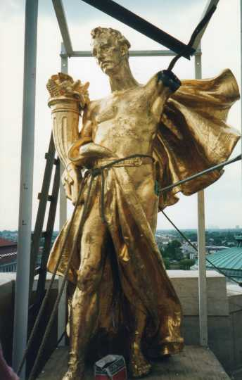 "Color image of ""Prosperity"" prior to restoration, August 1994. Photographed by Linda A. Cameron"