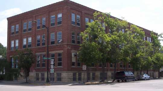 Red Wing Shoe Company, view of west side, 2010