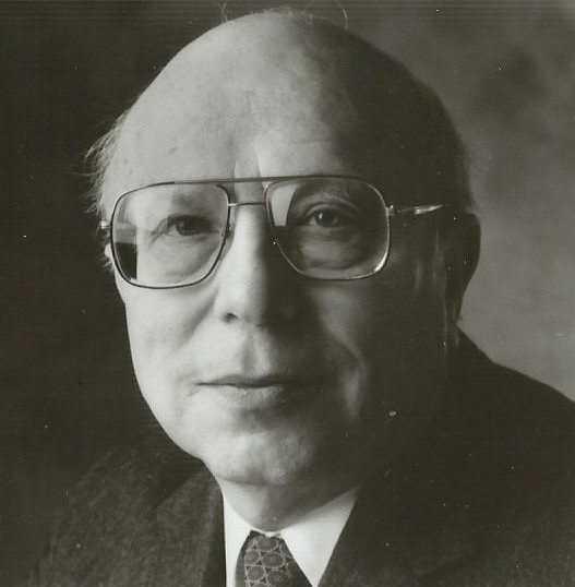 Black-and-white photograph of Rabbi Bernard Raskas.