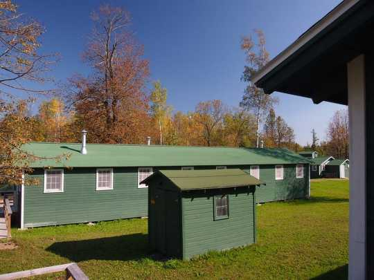 Camp Rabideau, Chippewa National Forest south of Blackduck, Minnesota, 2013. Photograph by Wikimedia user McGhiever. CC BY-SA 3.0.