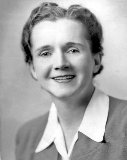 Black and white photograph of Rachel Carson, biologist, conservationist, and writer, ca. 1930s.
