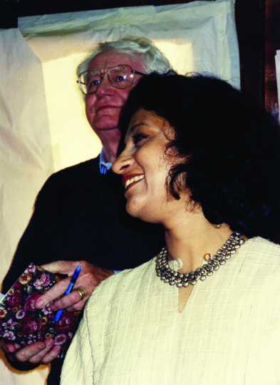 Ranee Ramaswamy and Robert Bly in Portland