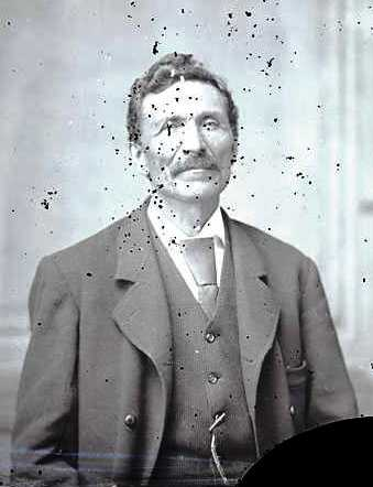 Black and white photograph of Gabriel Renville at Carlisle School, 1879.