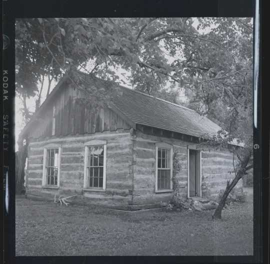 One of the original Buffalo River colony cabins
