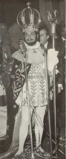 "Visiting ""royalty"" from Rio's Carnival, 1963"