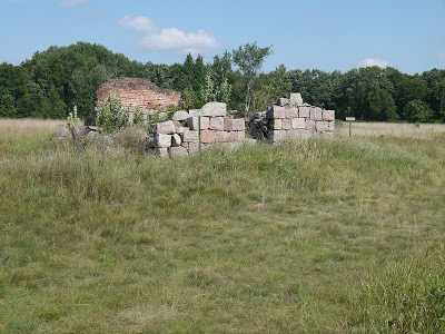 Color image of the remains of the Fort Ripley powder magazine, 2005.