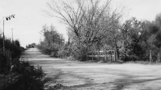 Photograph of a county road in Henrytown