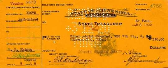 Einar A. Rogstad's bonus voucher
