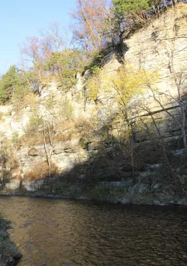 Limestone Bluff, Olmsted County Park, Simpson MN
