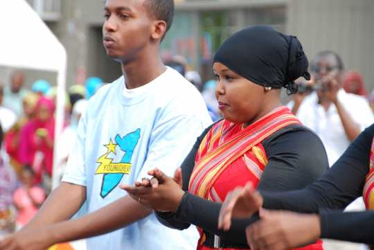 Photograph of participants in a Somali Independence Day event