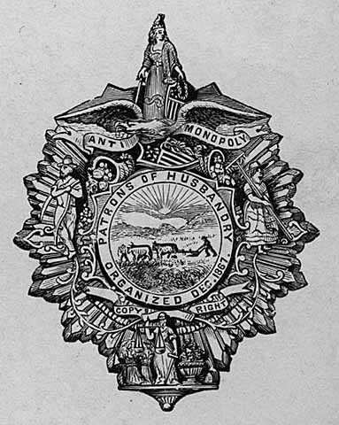 Patrons of Husbandry Badge, 1867.