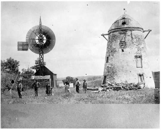 Black and white photograph of Seppman Mill, ca. 1890.