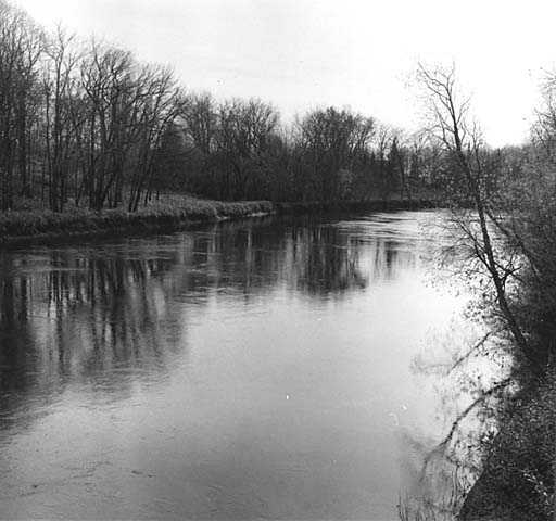 West Savanna River at the end of the portage, 1962. Photograph by Eugene D. Becker.