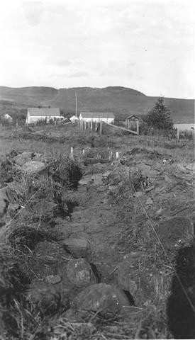 Excavation work at Grand Portage