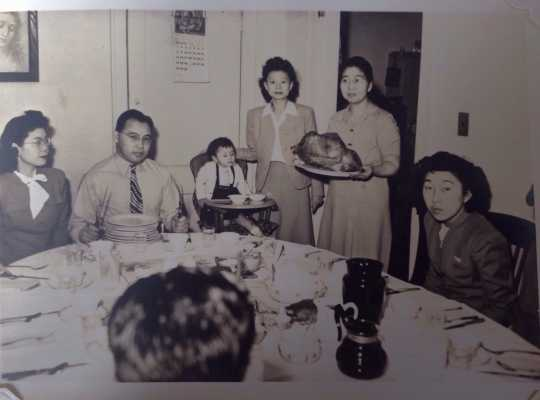 Christmas dinner at the St. Paul Resettlement Committee Hostel