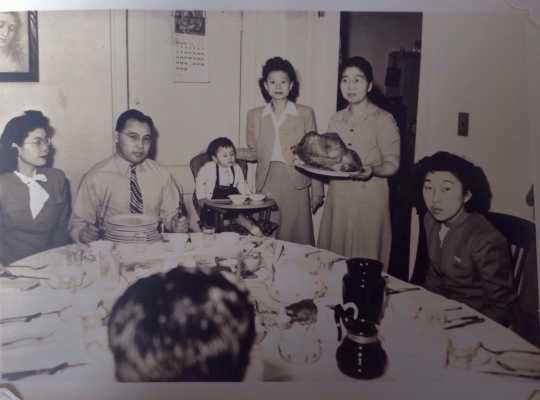 Christmas dinner at the St. Paul Resettlement Committee Hostel