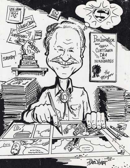 Curt Swan caricature drawn by Duane Barnhart