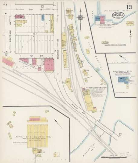 Fire insurance map of the site of Nymore Bridge