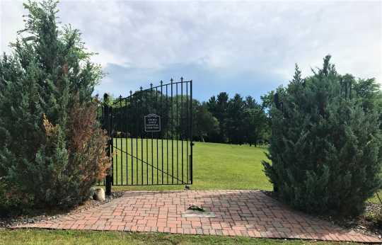 Gates at Anoka State Hospital cemetery