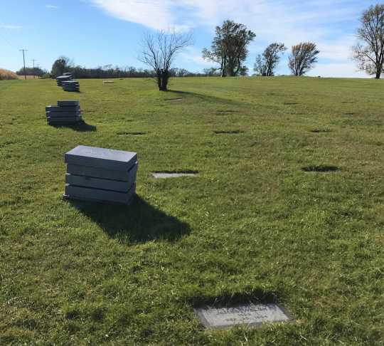 Headstones at Fergus Falls State Hospital cemetery