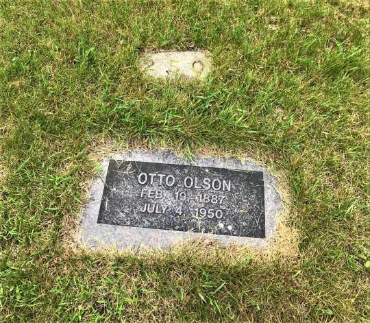 Headstone at Anoka State Hospital cemetery