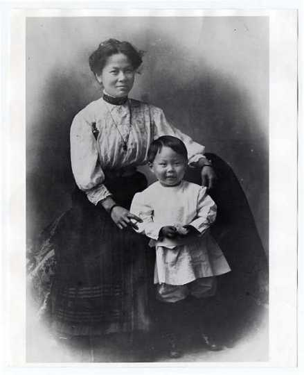 Liang May Seen with her son, Howard.