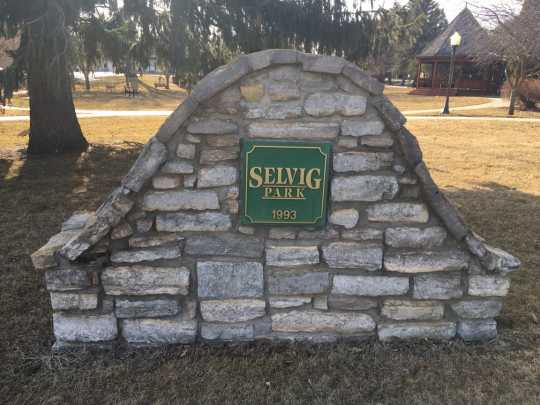 Photograph of Selvig Park Sign