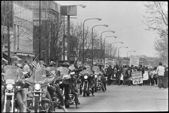 Protest march and ride