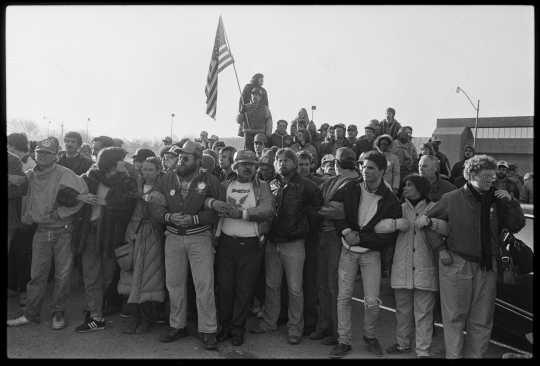 Hormel strikers' picket line