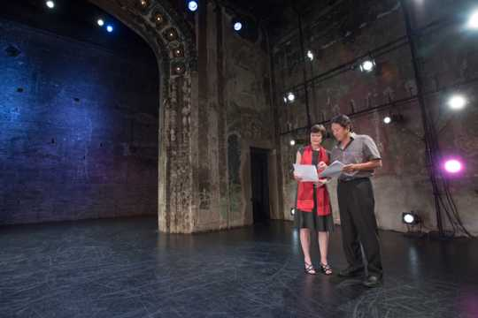 Martha Johnson and Rick Shiomi